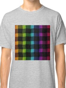 abstract colorful line background Classic T-Shirt