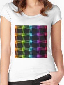 abstract colorful line background Women's Fitted Scoop T-Shirt