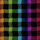 abstract colorful line background by valeo5