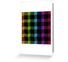 abstract colorful line background Greeting Card