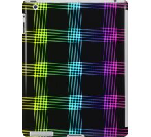 abstract colorful line background iPad Case/Skin