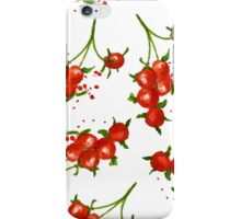 red berries seamless pattern iPhone Case/Skin