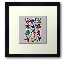 Keith Haring Superhero Edition Framed Print