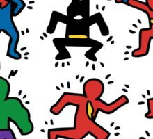 Keith Haring Superhero Edition Sticker
