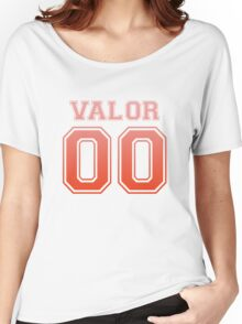 'Valor' Varsity Tee (Gradient) Women's Relaxed Fit T-Shirt