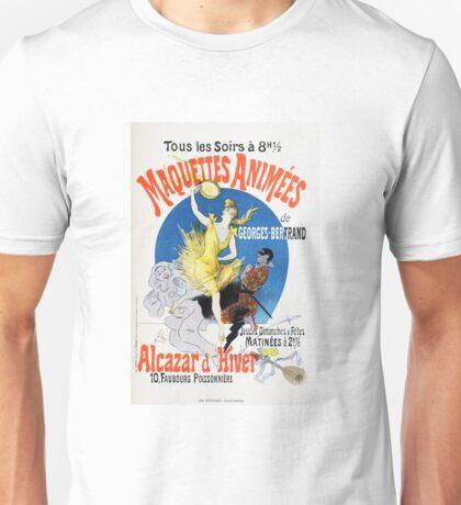 Vintage Jules Cheret 1896 Maquettes Animees Unisex T-Shirt