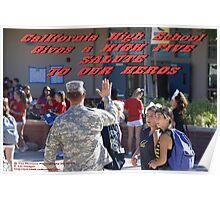 California High School Patriotic Day November 8, 2013; Whittier, CA USA Poster