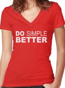 Do Simple  Better Women's Fitted V-Neck T-Shirt