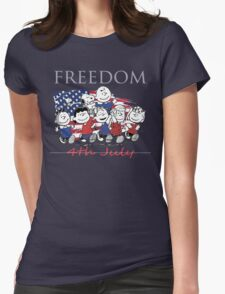 Peanut,Celebrate Independence Day Womens Fitted T-Shirt