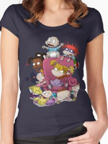 Naughty Kids Women's Fitted Scoop T-Shirt