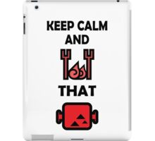 Keep Calm and BBQ that Meat iPad Case/Skin
