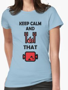 Keep Calm and BBQ that Meat Womens Fitted T-Shirt