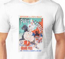 Vintage Jules Cheret 1896 Paris Courses Unisex T-Shirt