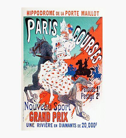 Vintage Jules Cheret 1896 Paris Courses Photographic Print