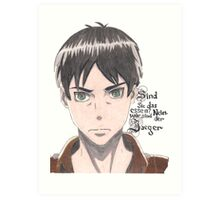 attack on titan eren jaeger Art Print
