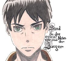 attack on titan eren jaeger by allthgood1srtkn