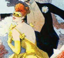 Vintage Jules Cheret 1896 Carnaval 1892 Sticker