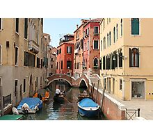 Venice canals 3 Photographic Print