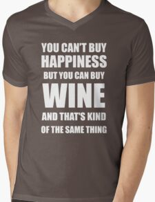 ou can't buy happiness but you can buy wine funny Mens V-Neck T-Shirt