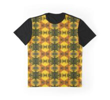 Sunflower with Bee Macro Pattern Graphic T-Shirt