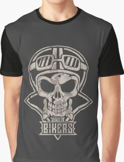 Skull Bikers Graphic T-Shirt