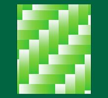 green abstract wave background Unisex T-Shirt