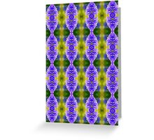 Agapanthus Bokeh Pattern Greeting Card