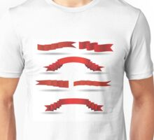 set of red banners Unisex T-Shirt