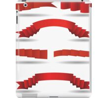 set of red banners iPad Case/Skin