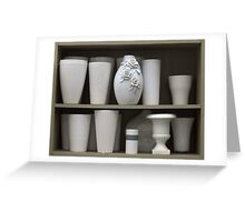 White Vases, trompe l'oeil Greeting Card