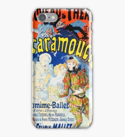 Vintage Jules Cheret 1896 Scaramouche iPhone Case/Skin