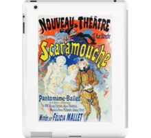Vintage Jules Cheret 1896 Scaramouche iPad Case/Skin