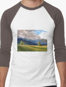 Stormy day over the Liverpool Ranges  Men's Baseball ¾ T-Shirt