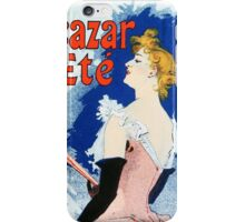 Vintage Jules Cheret 1896 Kanjarowa iPhone Case/Skin