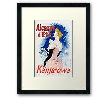 Vintage Jules Cheret 1896 Kanjarowa Framed Print