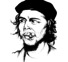 Che Guevara Ink Sketch by dsalinasdesigns