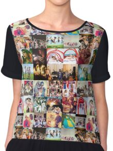 Taylor Swift 4th of July Collage Chiffon Top