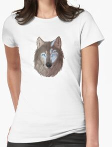 Mystical wolf Womens Fitted T-Shirt