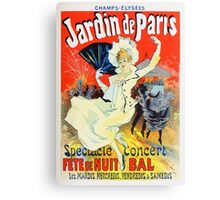 Vintage Jules Cheret 1896 Jardin De Paris Canvas Print