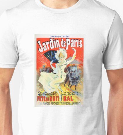 Vintage Jules Cheret 1896 Jardin De Paris Unisex T-Shirt