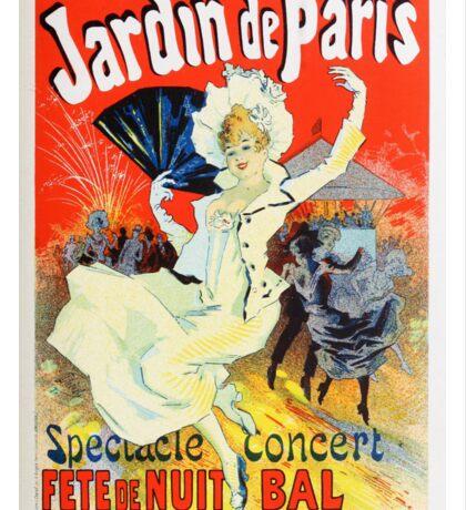 Vintage Jules Cheret 1896 Jardin De Paris Sticker