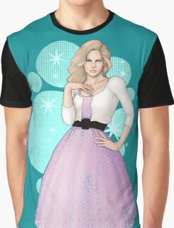 Modern-Retro Pinup Graphic T-Shirt