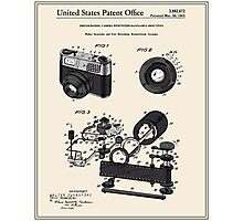 Camera Patent 1963 Photographic Print