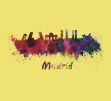 Madrid skyline in watercolor One Piece - Short Sleeve