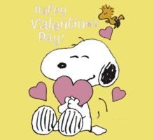 Happy Valentines Day Snoopy Kids Tee