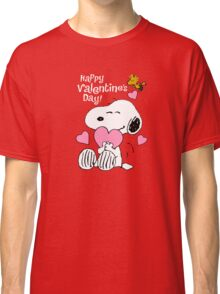 Happy Valentines Day Snoopy Classic T-Shirt