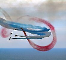 Abstract Art from The Red Arrows.... by lynn carter
