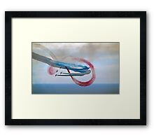 Abstract Art from The Red Arrows.... Framed Print