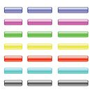set of colorful glass buttons by valeo5