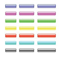 set of colorful glass buttons Photographic Print